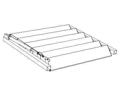 rl150x32 lames rectangulaires brise soleil orientable. Black Bedroom Furniture Sets. Home Design Ideas